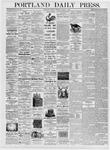 Portland Daily Press: August 1, 1876