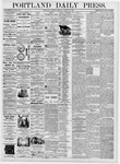 Portland Daily Press: August 26, 1876