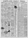 Portland Daily Press: August 30, 1876