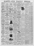 Portland Daily Press: September 12, 1876