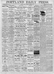 Portland Daily Press: October 20, 1876