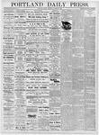 Portland Daily Press: October 27, 1876