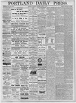 Portland Daily Press: August 1, 1877