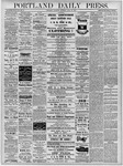 Portland Daily Press: April 25, 1878