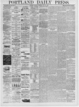 Portland Daily Press: July 27, 1878