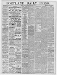 Portland Daily Press: September 7, 1878