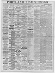 Portland Daily Press: October 11, 1878