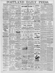 Portland Daily Press: October 21, 1878