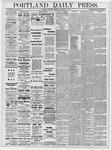 Portland Daily Press: November 9, 1878