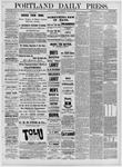Portland Daily Press: March 15,1881