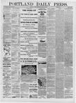 Portland Daily Press: March 21,1881