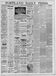 Portland Daily Press: May 13,1881