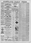 Portland Daily Press: May 25,1881
