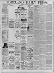Portland Daily Press: July 09,1881
