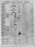 Portland Daily Press: July 19,1881