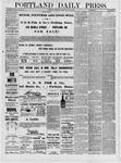 Portland Daily Press: July 21,1881
