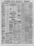 Portland Daily Press: July 29,1881