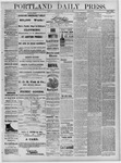 Portland Daily Press: July 30,1881