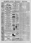 Portland Daily Press: August 13,1881