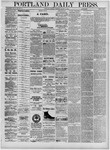 Portland Daily Press: August 15,1881