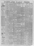 Portland Daily Press: October 03,1881