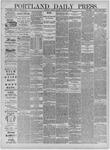 Portland Daily Press: October 04,1881