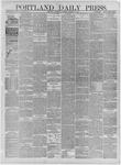 Portland Daily Press: October 05,1881