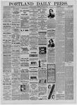 Portland Daily Press: October 11,1881