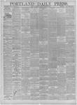Portland Daily Press: October 15,1881