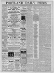 Portland Daily Press: October 20,1881