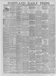 Portland Daily Press: October 21,1881