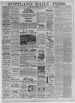 Portland Daily Press: October 25,1881