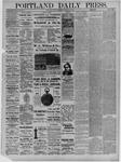 Portland Daily Press: November 05,1881