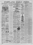 Portland Daily Press: November 08,1881