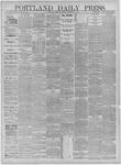 Portland Daily Press: November 09,1881