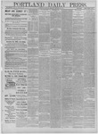Portland Daily Press: November 12,1881