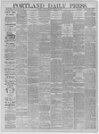 Portland Daily Press: November 23,1881