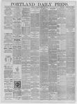 Portland Daily Press: May 07,1885