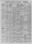 Portland Daily Press: May 22,1885