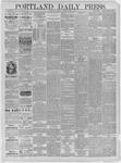 Portland Daily Press: June 01,1885