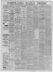 Portland Daily Press: June 25,1885