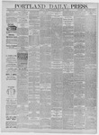 Portland Daily Press: April 15,1885
