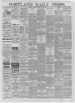 Portland Daily Press: April 20,1885