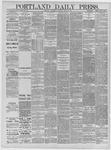 Portland Daily Press: April 22,1885