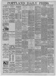 Portland Daily Press: April 23,1885