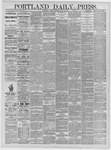 Portland Daily Press: April 28,1885