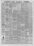 Portland Daily Press: April 30,1885
