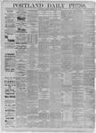 Portland Daily Press: July 09,1885