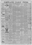 Portland Daily Press: July 14,1885