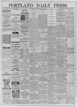 Portland Daily Press: July 17,1885